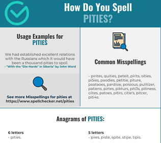 Correct spelling for Pities