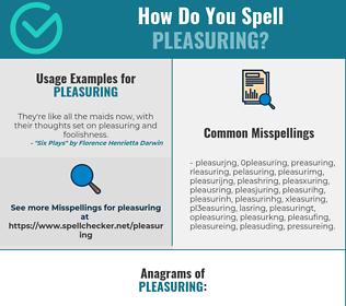 Correct spelling for Pleasuring