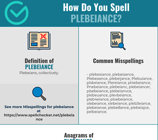 Correct spelling for Plebeiance