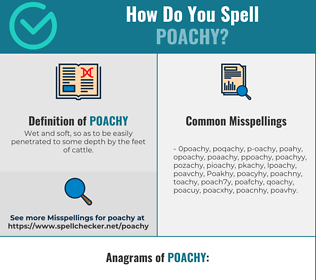 Correct spelling for Poachy