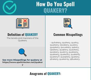 Correct spelling for Quakery