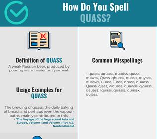 Correct spelling for Quass