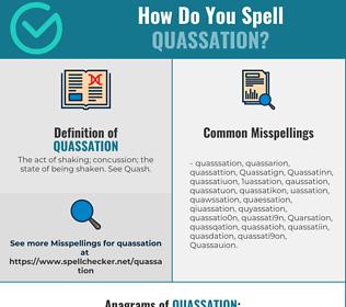 Correct spelling for Quassation