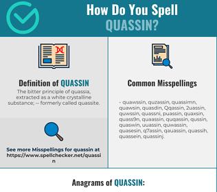 Correct spelling for Quassin