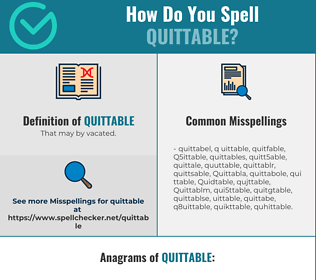 Correct spelling for Quittable