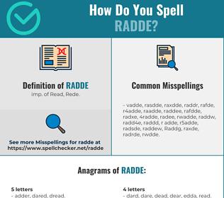 Correct spelling for Radde
