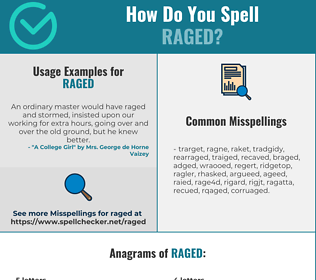 Correct spelling for Raged
