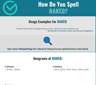 Correct spelling for Raked