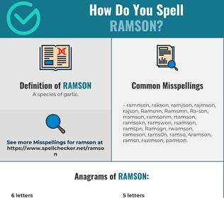 Correct spelling for Ramson