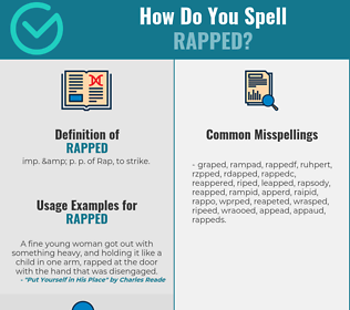 Correct spelling for Rapped