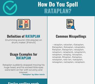 Correct spelling for Rataplan