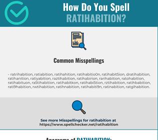 Correct spelling for Ratihabition
