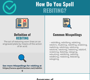 Correct spelling for Rebiting
