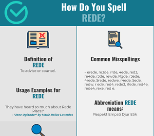 Correct spelling for Rede