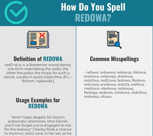 Correct spelling for Redowa