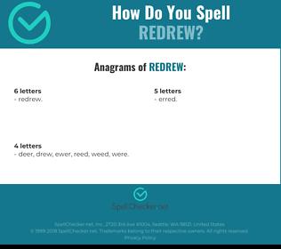 Correct spelling for Redrew