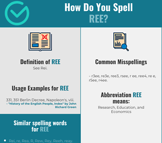 Correct spelling for Ree