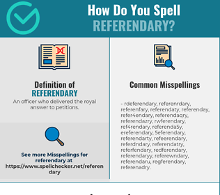 Correct spelling for Referendary