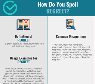 Correct spelling for Regreet