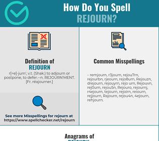 Correct spelling for Rejourn