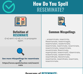 Correct spelling for Reseminate