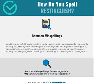 Correct spelling for Restinguish