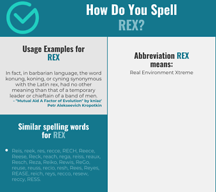 Correct spelling for Rex