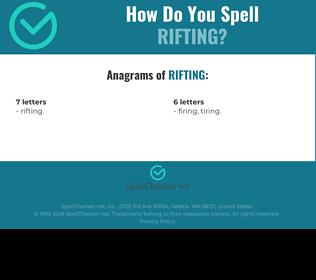 Correct spelling for Rifting