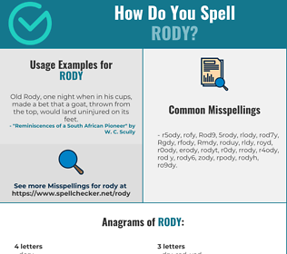 Correct spelling for Rody