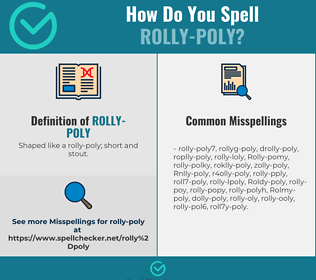 Correct spelling for Rolly-poly