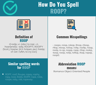 Correct spelling for Roop