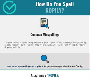 Correct spelling for Ropily