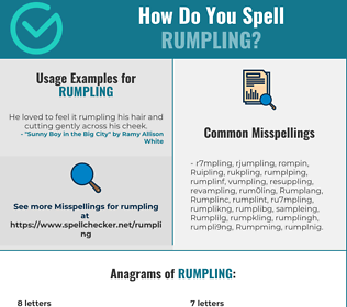 Correct spelling for Rumpling