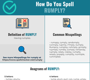 Correct spelling for Rumply