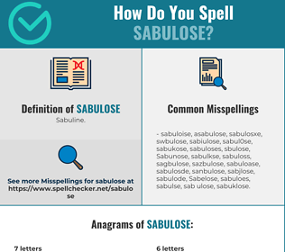 Correct spelling for Sabulose