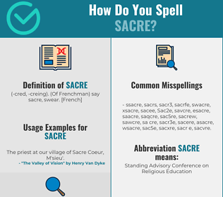 Correct spelling for Sacre