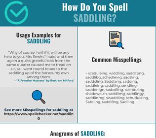 Correct spelling for Saddling