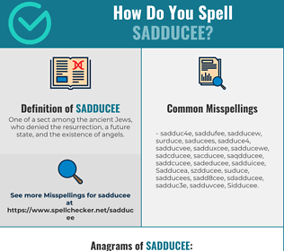 Correct spelling for Sadducee