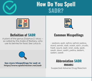 Correct spelling for Sadr