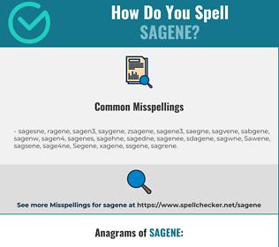 Correct spelling for Sagene