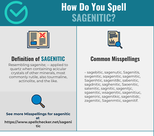 Correct spelling for Sagenitic