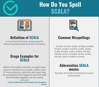 Correct spelling for Scala