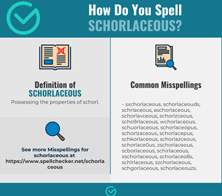 Correct spelling for Schorlaceous