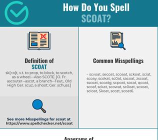 Correct spelling for Scoat