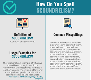 Correct spelling for Scoundrelism