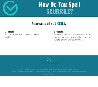 Correct spelling for Scurrile