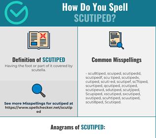 Correct spelling for Scutiped