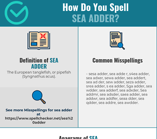 Correct spelling for Sea adder