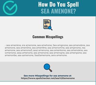 Correct spelling for Sea amenone