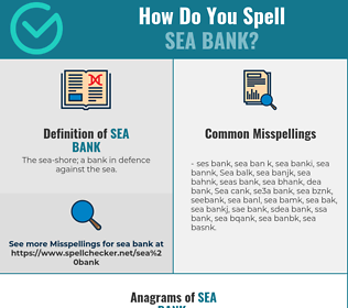 Correct spelling for Sea bank